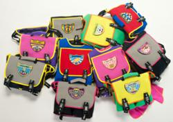 SuperME cape backpacks and messenger style lunch bags